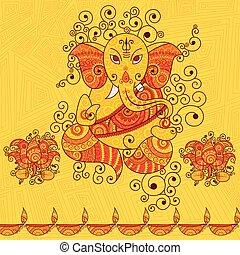 Vector design of Lord Ganesha