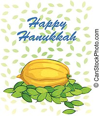 Happy Hanukkah festival celebration background - Vector...