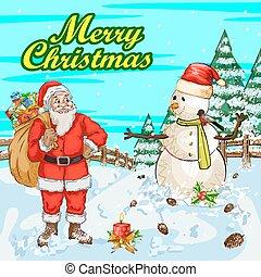Vector Design Of Merry Christmas Festival Celebration Background