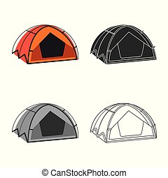 Vector design of mountaineering and peak symbol. Collection ...