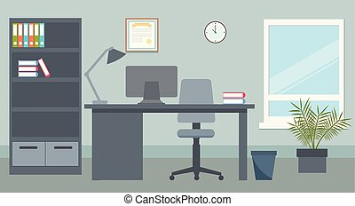 Vector design of office environment. Illustration.
