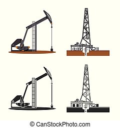 Vector design of oil and gas icon. Set of oil and petrol...