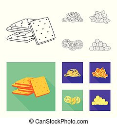 Vector design of Oktoberfest and bar icon. Collection of Oktoberfest and cooking stock vector illustration.
