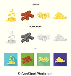 Vector design of Oktoberfest and bar icon. Set of Oktoberfest and cooking stock symbol for web.