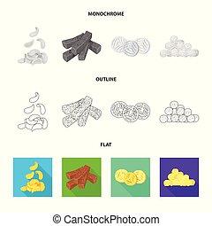 Vector design of Oktoberfest and bar logo. Collection of Oktoberfest and cooking stock vector illustration.
