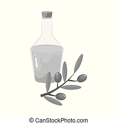 Vector design of olive and oil logo. Collection of olive and bottle stock symbol for web.