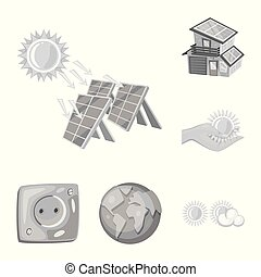 Vector design of organic and nature icon. Collection of organic and panel stock vector illustration.