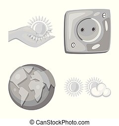 Vector design of organic and nature icon. Set of organic and panel stock symbol for web.