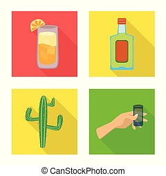 Vector design of party and celebration logo. Collection of party and Latin vector icon for stock.