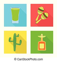 Vector design of party and celebration sign. Set of party and Latin vector icon for stock.