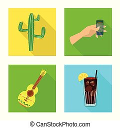 Vector design of party and celebration symbol. Collection of party and Latin vector icon for stock.