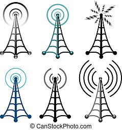 radio tower symbols