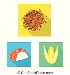 Vector design of raw and agricultural logo. Collection of raw and ecological stock symbol for web.