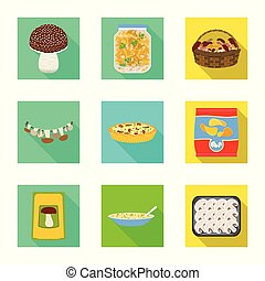 Vector design of raw and summer icon. Collection of raw and ingredient stock vector illustration.