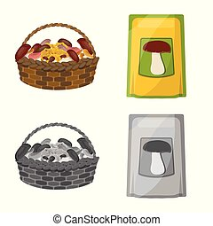Vector design of raw and summer icon. Set of raw and ingredient stock symbol for web.