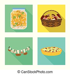 Vector design of raw and summer icon. Set of raw and ingredient vector icon for stock.
