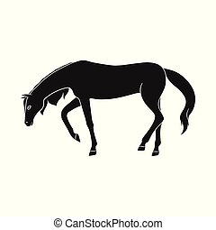 Vector design of running and horse logo. Collection of running and hoofed stock vector illustration.