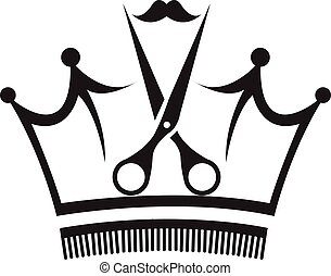 Scissors and Comb - Vector Design of Scissors and Comb