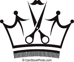 Scissors and Comb - Vector Design of Scissors and Comb