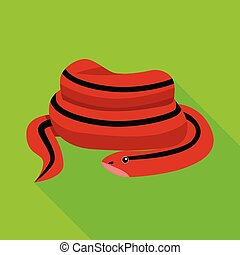 Vector design of serpent and red icon. Graphic of serpent and skin vector icon for stock.
