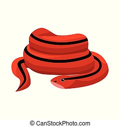 Vector design of serpent and red logo. Web element of serpent and skin vector icon for stock.