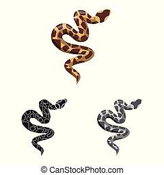 Vector design of serpent and venomous icon. Graphic of serpent and skin vector icon for stock.