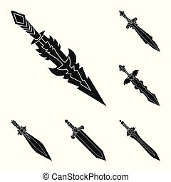 Vector design of sharp and blade sign. Collection of sharp and dagger vector icon for stock.