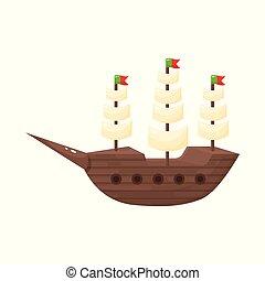 Vector design of ship and sailboat symbol. Set of ship and ship stock vector illustration.
