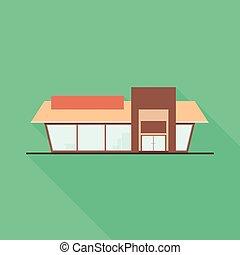 Vector design of shop and facade icon. Set of shop and exterior vector icon for stock.