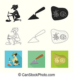 Vector design of story and items icon. Collection of story...