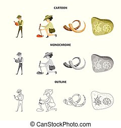 Vector design of story and items logo. Collection of story...