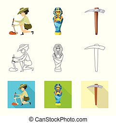 Vector design of story and items logo. Set of story and...