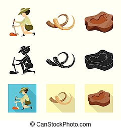 Vector design of story and items sign. Set of story and...