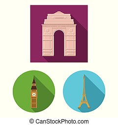 Vector design of street and architecture symbol. Collection of street and tour stock vector illustration.