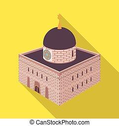 Vector design of synagogue and judaism icon. Set of synagogue and jewish stock vector illustration.