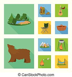 Vector design of tourism and excursions icon. Set of tourism and rest stock symbol for web.