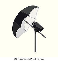 Vector design of umbrella and light logo. Collection of umbrella and setup stock symbol for web.