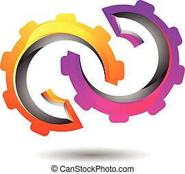 Vibrant Abstract Mechanism Logo