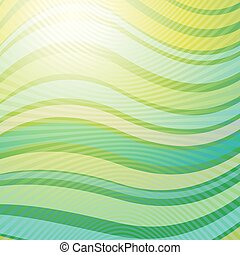 Vector design pattern. Green wave abstract light background