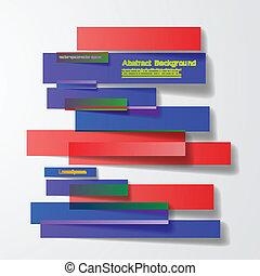 vector, design., resumen, líneas, folleto, tarjeta
