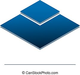 Vector design template for your company logo, abstract blue icon. Modern logotipe, business corporate template.