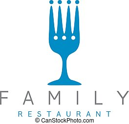 vector design template of abstract family restaurant