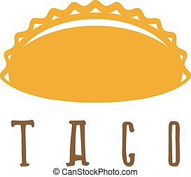 vector design template of taco mexican food