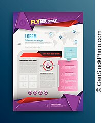 Vector design template printing. Vector illustration. Can...
