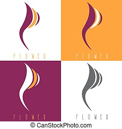 vector design template set of abstract flowers