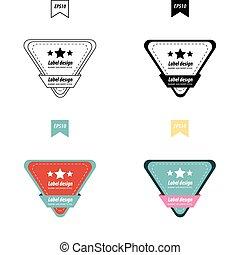 Vector Design Triangle label set