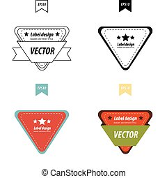 Vector Design Triangle label set