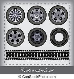vector design wheels