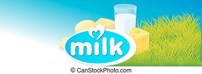 vector design with milk