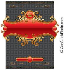 Vector design with ornate golden frame